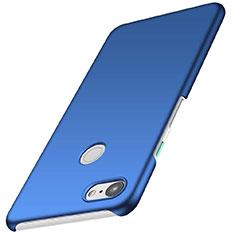Coque Plastique Rigide Etui Housse Mat M01 pour Google Pixel 3 Bleu