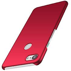 Coque Plastique Rigide Etui Housse Mat M01 pour Google Pixel 3 Rouge
