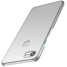 Coque Plastique Rigide Etui Housse Mat M01 pour Google Pixel 3 XL Argent
