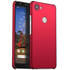 Coque Plastique Rigide Etui Housse Mat M01 pour Google Pixel 3a Rouge