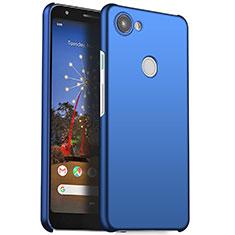 Coque Plastique Rigide Etui Housse Mat M01 pour Google Pixel 3a XL Bleu
