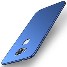 Coque Plastique Rigide Etui Housse Mat M01 pour Huawei G8 Bleu