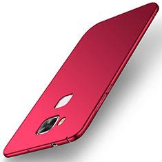 Coque Plastique Rigide Etui Housse Mat M01 pour Huawei G8 Rouge