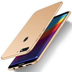 Coque Plastique Rigide Etui Housse Mat M01 pour Huawei Honor 7A Or