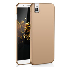 Coque Plastique Rigide Etui Housse Mat M01 pour Huawei Honor 7i shot X Or