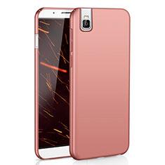 Coque Plastique Rigide Etui Housse Mat M01 pour Huawei Honor 7i shot X Or Rose