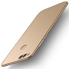 Coque Plastique Rigide Etui Housse Mat M01 pour Huawei Honor 7X Or