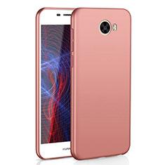 Coque Plastique Rigide Etui Housse Mat M01 pour Huawei Honor Play 5 Or Rose