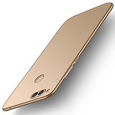 Coque Plastique Rigide Etui Housse Mat M01 pour Huawei Honor Play 7X Or
