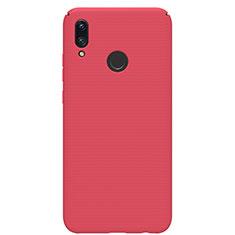 Coque Plastique Rigide Etui Housse Mat M01 pour Huawei P Smart (2019) Rouge