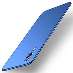 Coque Plastique Rigide Etui Housse Mat M01 pour Huawei P20 Bleu