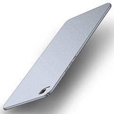 Coque Plastique Rigide Etui Housse Mat M01 pour Huawei P8 Argent