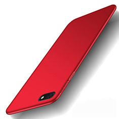 Coque Plastique Rigide Etui Housse Mat M01 pour Huawei Y5 (2018) Rouge