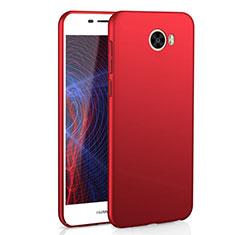 Coque Plastique Rigide Etui Housse Mat M01 pour Huawei Y5 II Y5 2 Rouge
