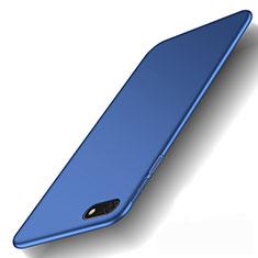 Coque Plastique Rigide Etui Housse Mat M01 pour Huawei Y5 Prime (2018) Bleu