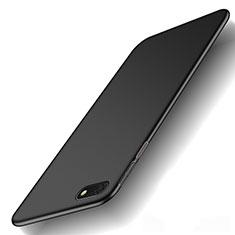 Coque Plastique Rigide Etui Housse Mat M01 pour Huawei Y5 Prime (2018) Noir