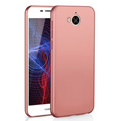 Coque Plastique Rigide Etui Housse Mat M01 pour Huawei Y6 (2017) Or Rose