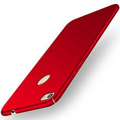 Coque Plastique Rigide Etui Housse Mat M01 pour Huawei Y6 Pro (2017) Rouge