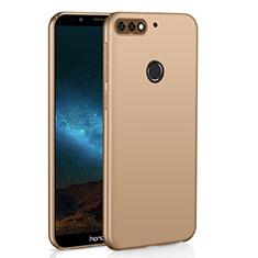 Coque Plastique Rigide Etui Housse Mat M01 pour Huawei Y7 (2018) Or