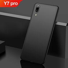 Coque Plastique Rigide Etui Housse Mat M01 pour Huawei Y7 (2019) Noir