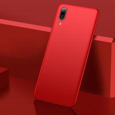 Coque Plastique Rigide Etui Housse Mat M01 pour Huawei Y7 (2019) Rouge