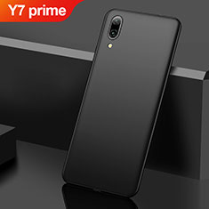 Coque Plastique Rigide Etui Housse Mat M01 pour Huawei Y7 Prime (2019) Noir