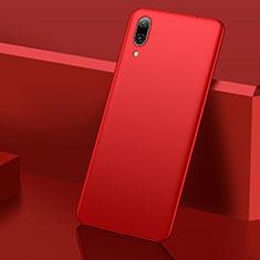 Coque Plastique Rigide Etui Housse Mat M01 pour Huawei Y7 Pro (2019) Rouge