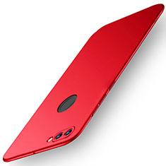Coque Plastique Rigide Etui Housse Mat M01 pour Huawei Y9 (2018) Rouge