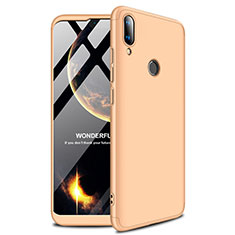 Coque Plastique Rigide Etui Housse Mat M01 pour Huawei Y9 (2019) Or