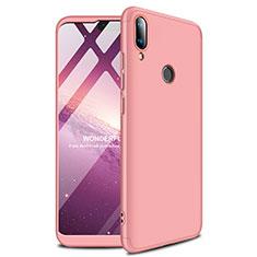 Coque Plastique Rigide Etui Housse Mat M01 pour Huawei Y9 (2019) Or Rose