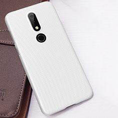 Coque Plastique Rigide Etui Housse Mat M01 pour Nokia 6.1 Plus Blanc