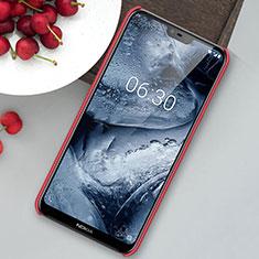 Coque Plastique Rigide Etui Housse Mat M01 pour Nokia 6.1 Plus Rouge
