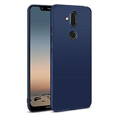 Coque Plastique Rigide Etui Housse Mat M01 pour Nokia 7.1 Plus Bleu