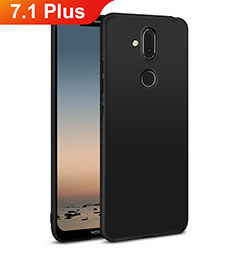 Coque Plastique Rigide Etui Housse Mat M01 pour Nokia 7.1 Plus Noir
