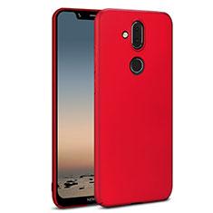 Coque Plastique Rigide Etui Housse Mat M01 pour Nokia 7.1 Plus Rouge