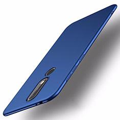Coque Plastique Rigide Etui Housse Mat M01 pour Nokia X5 Bleu