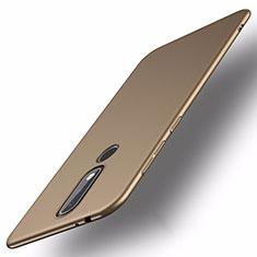 Coque Plastique Rigide Etui Housse Mat M01 pour Nokia X5 Or