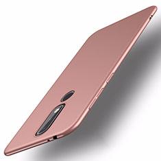 Coque Plastique Rigide Etui Housse Mat M01 pour Nokia X5 Or Rose