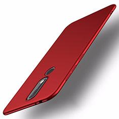 Coque Plastique Rigide Etui Housse Mat M01 pour Nokia X5 Rouge