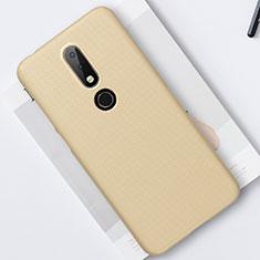 Coque Plastique Rigide Etui Housse Mat M01 pour Nokia X6 Or