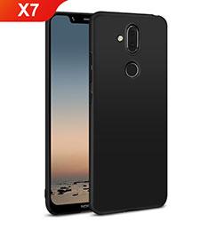 Coque Plastique Rigide Etui Housse Mat M01 pour Nokia X7 Noir
