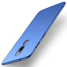 Coque Plastique Rigide Etui Housse Mat M01 pour OnePlus 6 Bleu