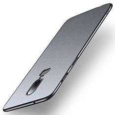 Coque Plastique Rigide Etui Housse Mat M01 pour OnePlus 6 Gris