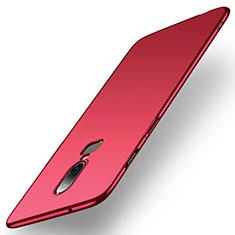 Coque Plastique Rigide Etui Housse Mat M01 pour OnePlus 6 Rouge