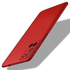 Coque Plastique Rigide Etui Housse Mat M01 pour Oppo A52 Rouge