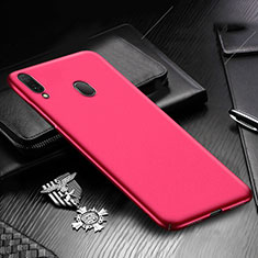 Coque Plastique Rigide Etui Housse Mat M01 pour Samsung Galaxy A30 Rouge