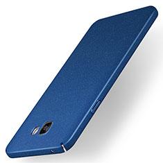 Coque Plastique Rigide Etui Housse Mat M01 pour Samsung Galaxy A7 (2016) A7100 Bleu
