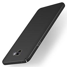 Coque Plastique Rigide Etui Housse Mat M01 pour Samsung Galaxy A7 (2016) A7100 Noir