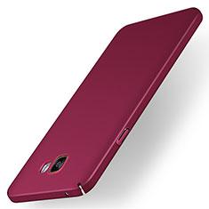 Coque Plastique Rigide Etui Housse Mat M01 pour Samsung Galaxy A7 (2016) A7100 Rouge