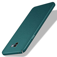 Coque Plastique Rigide Etui Housse Mat M01 pour Samsung Galaxy A7 (2016) A7100 Vert